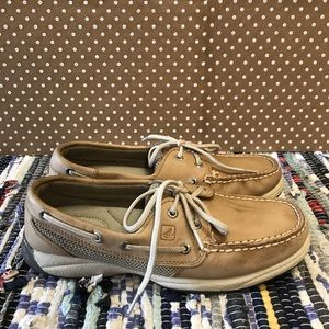 Sperry Top Sider Intrepid Boat Shoes Tan Leather 7